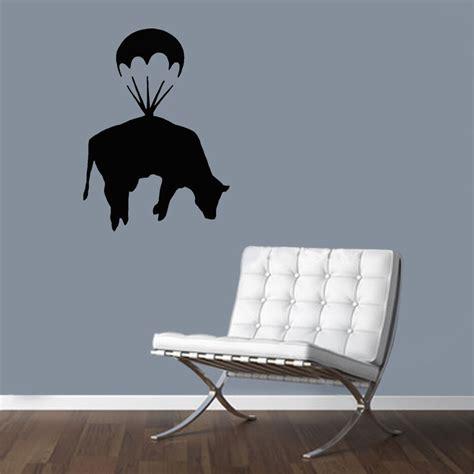 home decor stencils banksy stencils parachute cow reusable wall home decor