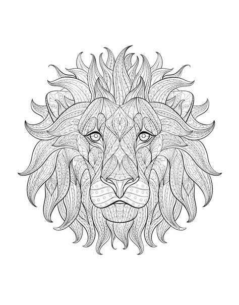 lion coloring page for adults coloriage adulte afrique tete lion 3 decal africa color