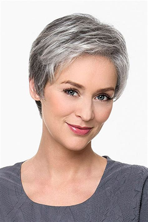 salt and pepper pixie cut human hair wigs salt and pepper hair styles for woman