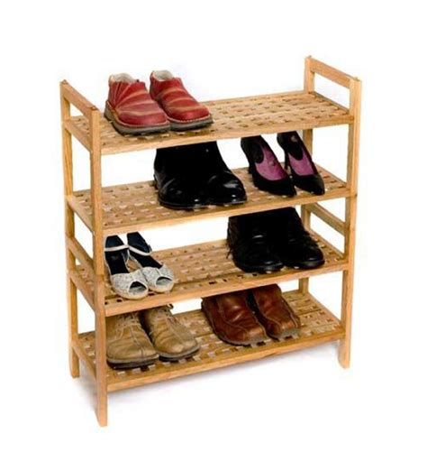 cassia mango wood adjustable shoe rack by
