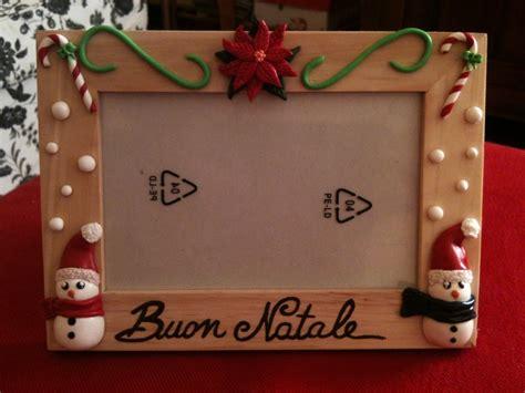 cornici in fimo cornice portafoto natalizia in fimo per la casa e per te