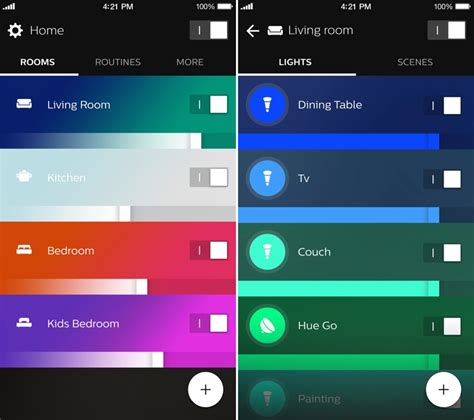 room color app philips launches new hue app with reved look and