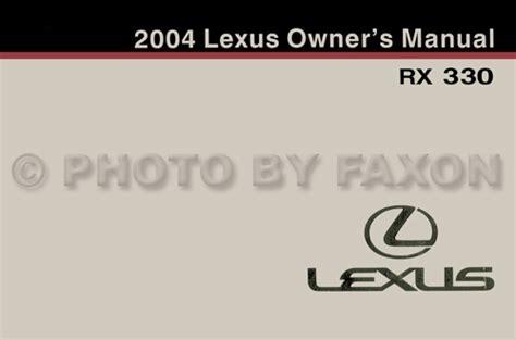 auto repair manual online 2004 lexus rx user handbook 2004 lexus rx 330 dynamic cruise control owner s manual