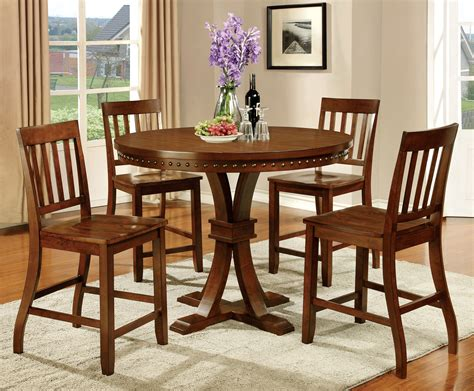 furniture of america oak karl rustic 5 counter