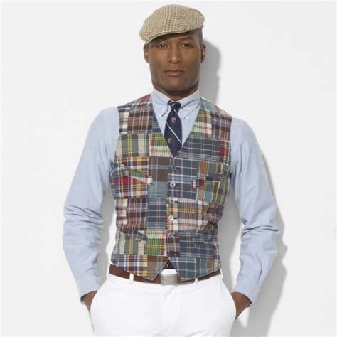Ralph Patchwork - polo ralph surfside madras vest in multicolor for