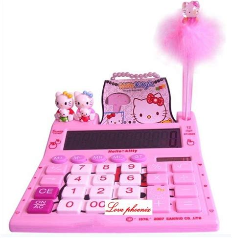 Kalkulator Hk Hello Sanrio Calculator Pink kalkulator cinta