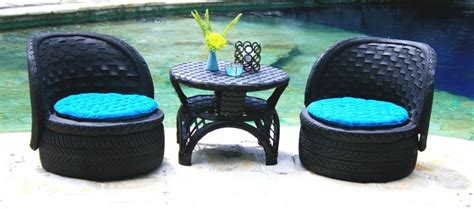 Home Decor With Recycled Materials by Diy Furniture From Recycled Automotive Tires Recycled Things