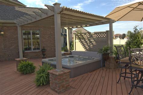 spa pergola ideas pergolas columbus decks porches and patios by archadeck of columbus