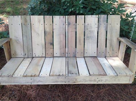 how to make a swing out of pallets diy pallet outdoor two seated swing 101 pallets