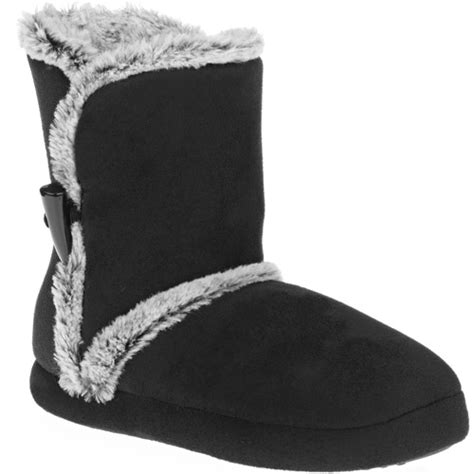 walmart boot slippers s bootie slippers walmart