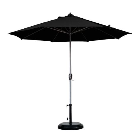 Black Patio Umbrella California Umbrella 9 Ft Aluminum Auto Tilt Patio Umbrella In Black Olefin Ata908117 F32 The
