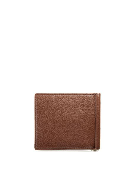 gucci soho leather money clip wallet