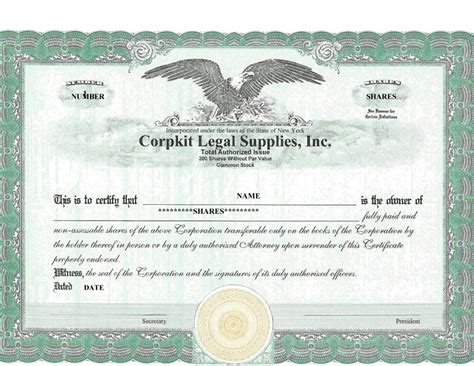 corporate stock certificate template free 40 free stock certificate templates word pdf