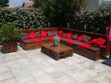 pallet backyard furniture best diy pallet deck ideas