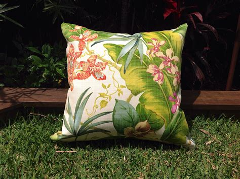 Outdoor Cushions Tropical Outdoor Cushions Tropical Outdoor Pillows Palm Leaves