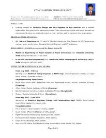 Year Resume Sles by Resume Electrical Engineer Mep 9 Years Exp