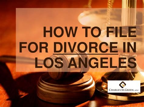 Divorce Records Los Angeles How To File For Divorce In Los Angeles