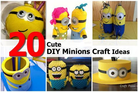 minion diy crafts 20 diy minions craft ideas