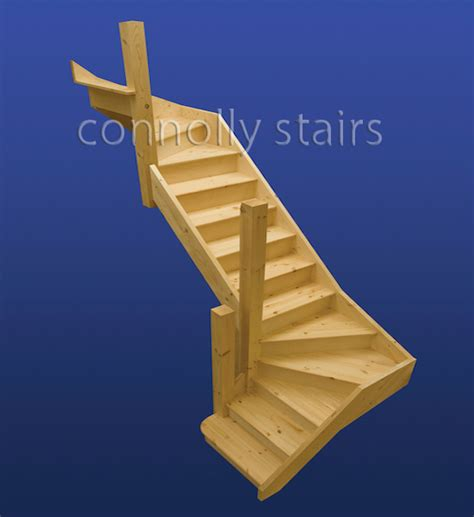 Turning Staircase by Two Turn Attic Stairs Two Turn Attic Stairs Ireland