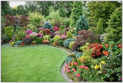 beautiful garden flower landscaping design ideas to complete your home yard decoration