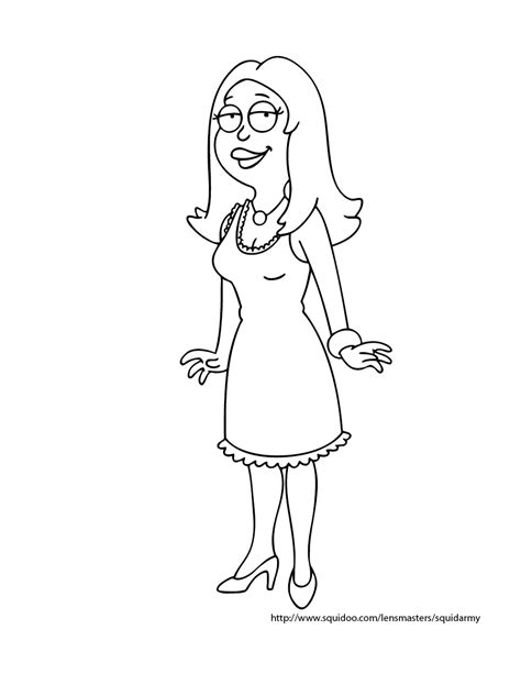 american dad coloring pages squid army