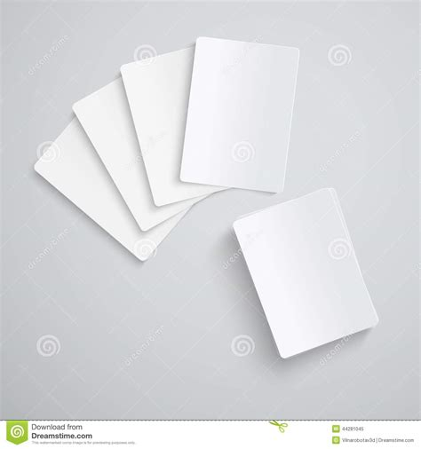 blank deck of cards template blank cards stock vector image 44281045