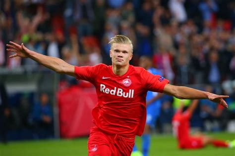erling braut haaland teen  scored cl debut hat