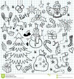 christmas winter holiday doodles royalty free stock photography image 35647437