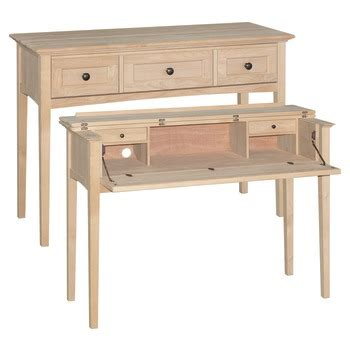 unfinished wood furniture kits desk unfinished wood 3506auf mck console desk popup