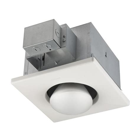 broan bathroom fan with light shop broan white bathroom fan with integrated heater and