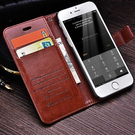 Leather Wallet Cover Iphone 6 by Wallet Leather For Iphone 6 6s 6 6s Plus Luxury