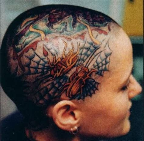 henna tattoo on bald head henna for tattoos bald are