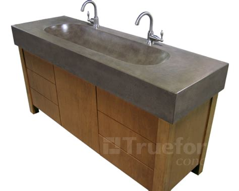 concrete sink and vanity base 4 trough sink trueform