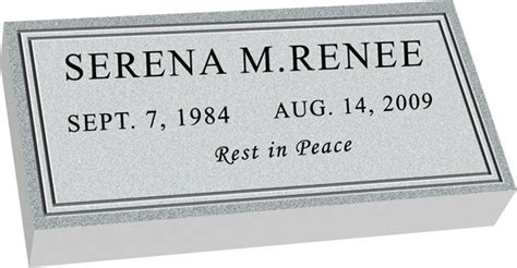 Stoneplans Grave Marker Template