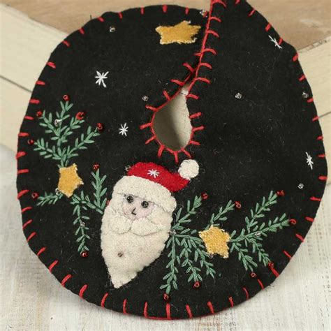 small christmas santa embroidered tree skirt christmas