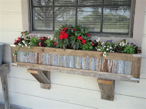 window plant boxes handcrafted rustic window box planters out of reclaimed