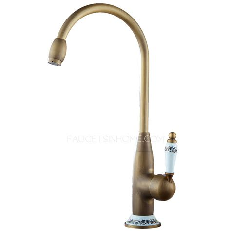 Designer High Arc Antique Brass Ceramic Kitchen Faucets Designer Faucets Kitchen