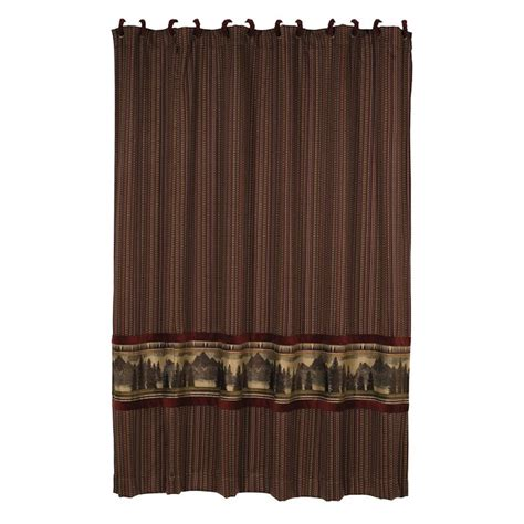 Cabin Shower Curtains Briarcliff Shower Curtain