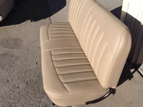 street rod bench seats custom bench seat for 1956 ford f100 all tan interior red exterior chronic street