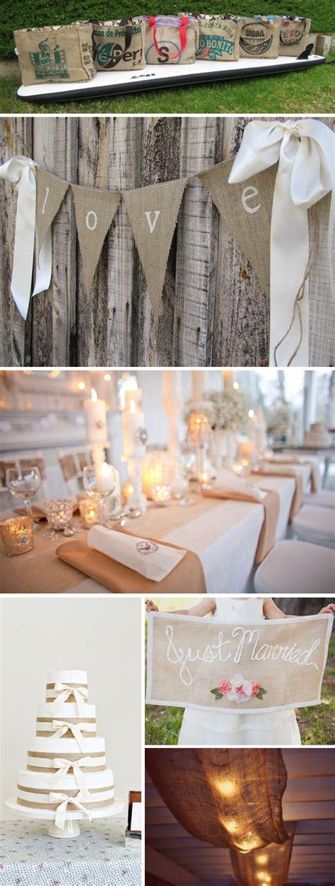 Decorating Ideas With Burlap Martha Stewart Weddings Wedding Planning Ideas And