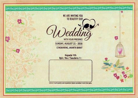 membuat undangan pernikahan bahasa inggris 23 contoh undangan pernikahan islami masa kini desain