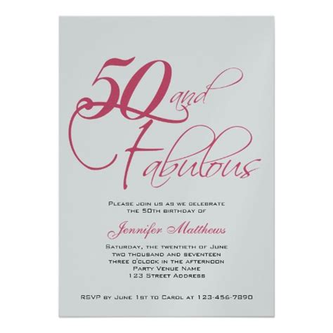 50th birthday invitations ideas bagvania free printable