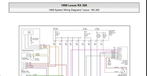 1999 lexus rx 300 system wiring diagrams interior lights