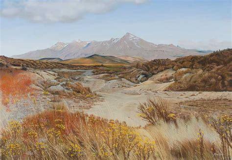 Landscape Paintings New Zealand Photo Realism Landscape Paintings By Michael Sass New