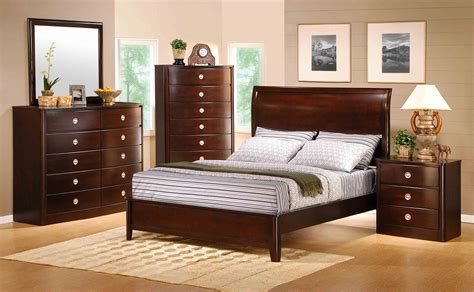 cherry wood bedroom sets roundhill furniture