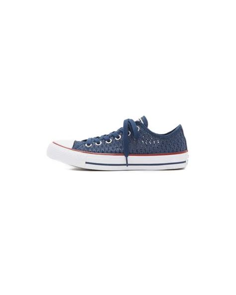 converse crochet sneakers converse chuck all crochet sneakers in blue