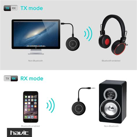 Bluetooth Transmitter Bt 4 Black by Bluetooth 4 1 Audio Transmitter And Receiver Havit Hv