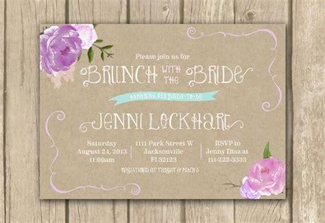 printable bridal shower brunch invitations bridal brunch invitation lilac bridal shower invitation