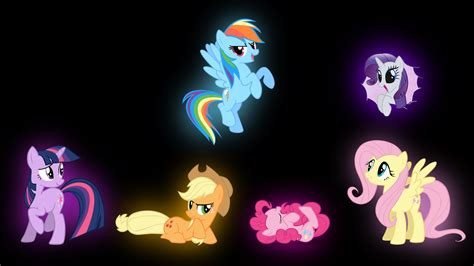 glow in the pony my pony mane 6 glow by ozicks on deviantart