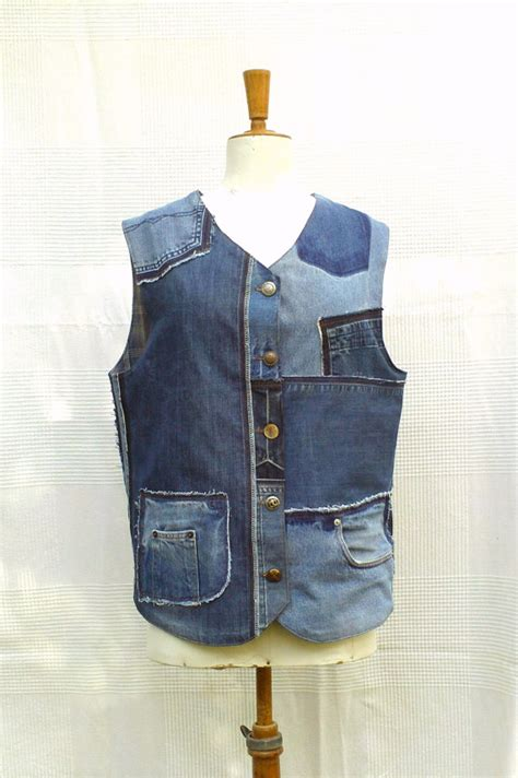 Patchwork Waistcoat - waistcoat in patchwork of recycled custom made